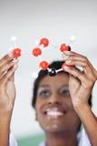Lärare Analyzing Molecular Structure Royaltyfri Fotografi