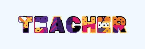 Lärare Concept Word Art Illustration stock illustrationer