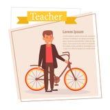 Lärare eller affärsman Vector cartoon Isolerad konst på vit bakgrund plant royaltyfri illustrationer
