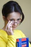 lärare för affärsengelska Arkivfoton