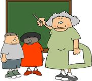lärare för kvinnliga deltagare Arkivbild