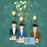 Lärare för vetenskaps- och utbildningsonline-utbildningsskolförvaltning royaltyfri illustrationer