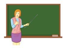 Lärare framme av klassrumet Arkivfoto