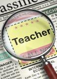 Lärare Join Our Team 3d Arkivbilder