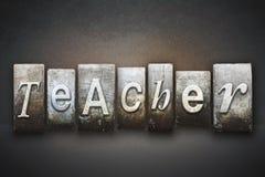 Lärare Letterpress Arkivbild