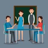 Lärare med studenttecken Arkivbilder