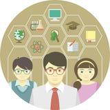 Lärare och elever stock illustrationer