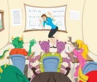 Lärare och lite monster Arkivfoton