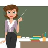 Lärare på blackboarden Royaltyfria Bilder