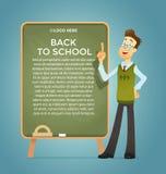 Lärare på blackboarden Royaltyfri Fotografi