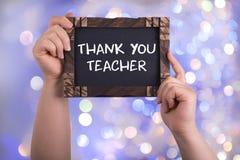 lärare tackar dig royaltyfri bild
