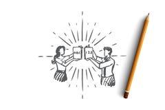 Lärare utbildning, skola, kunskap, kursbegrepp Hand dragen isolerad vektor vektor illustrationer