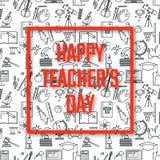 Läraredagferier Fotografering för Bildbyråer