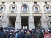 Läraredemonstration i Rome Arkivfoton