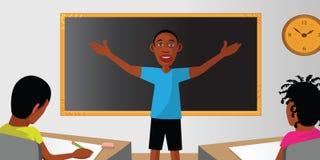 Lärareklassrumdeltagare vektor illustrationer