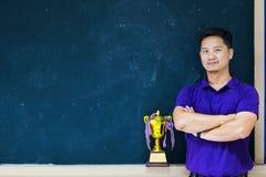 Läraren Award, bra modell, är en kvalitets- person arkivbilder