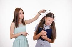 Läraren gör studenten att tänka och lära Royaltyfria Bilder