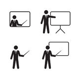 Läraresymbolsuppsättning Arkivfoto