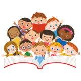 Läs- barn stock illustrationer