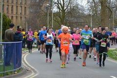 Läs- halv maraton 2017 - 19th mars 2017 Arkivbild