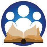 Läs- logo royaltyfri illustrationer