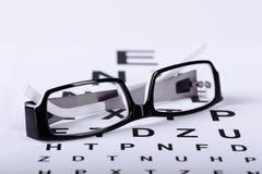 Läs- svart glasögon royaltyfria foton