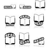 Läs symboler Royaltyfria Bilder