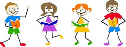 läsa för ungar Arkivbild
