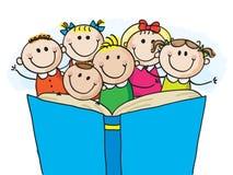 Läsa för ungar royaltyfri illustrationer