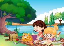 Läsa för ungar vektor illustrationer