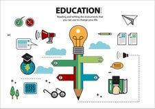 Läsa och skriva utbildning 1 Stock Illustrationer