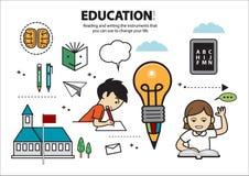 Läsa och skriva utbildning 4 Royaltyfri Illustrationer