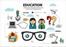 Läsa och skriva utbildning 3 Stock Illustrationer