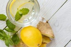 Läsk med citronen Royaltyfri Fotografi