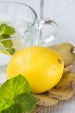 Läsk med citronen Arkivfoton