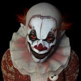 Läskig clown 1 Arkivfoto