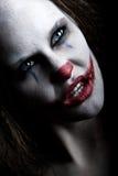 läskig clown Arkivfoton