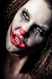 läskig clown Royaltyfri Fotografi