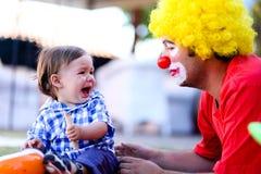 Läskig clown royaltyfri foto