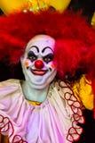 Läskig clowndockaframsida Royaltyfri Foto