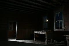 läskig dörr Arkivfoto