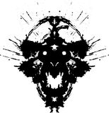 Läskig demon Royaltyfri Bild