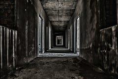 läskig hallgångbana Royaltyfri Bild