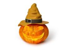 Läskig halloween för stålarnolla-lykta pumpa med stearinljusljus inom Arkivfoton