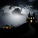 läskig halloween gigantisk pumpa Royaltyfria Bilder