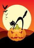 läskig halloween natt Royaltyfri Fotografi