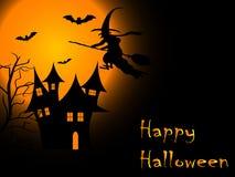 Läskig Halloween natt Arkivbild