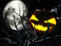 Läskig halloween natt fotografering för bildbyråer