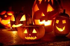 Läskig halloween pumpa Arkivfoton