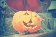 läskig halloween pumpa Royaltyfri Foto